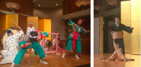 地車ばやし(地車講)、日本舞踊「雛鶴三番叟」西川梅十三師範